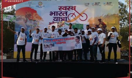 L N Nursing College Participated in Swasth Bharat Yatra