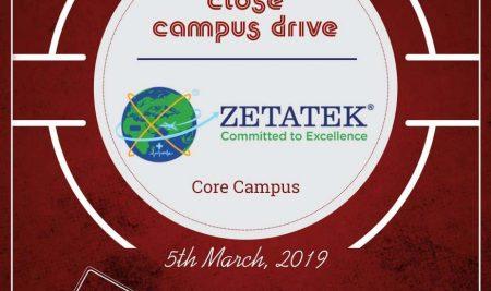 "Close Campus Drive by ""ZETATEK"" Technologies at LNCT Group"
