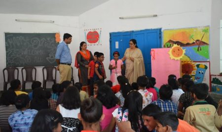 LNCT University celebrates Diwali with Orphanage Kids of SOS Balgram