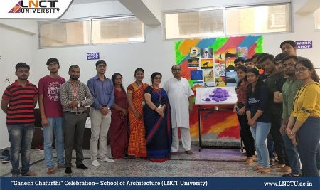 Ganesh Chaturthi Celebration– School of Architecture | LNCT Univerity
