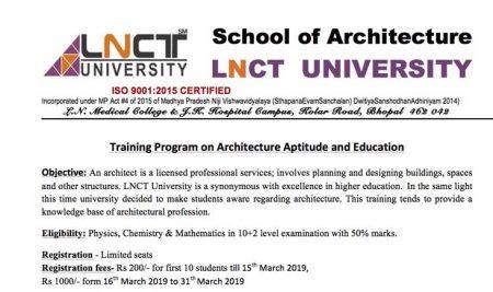 Training Program on Architecture Aptitude and Education Objective | LNCTU